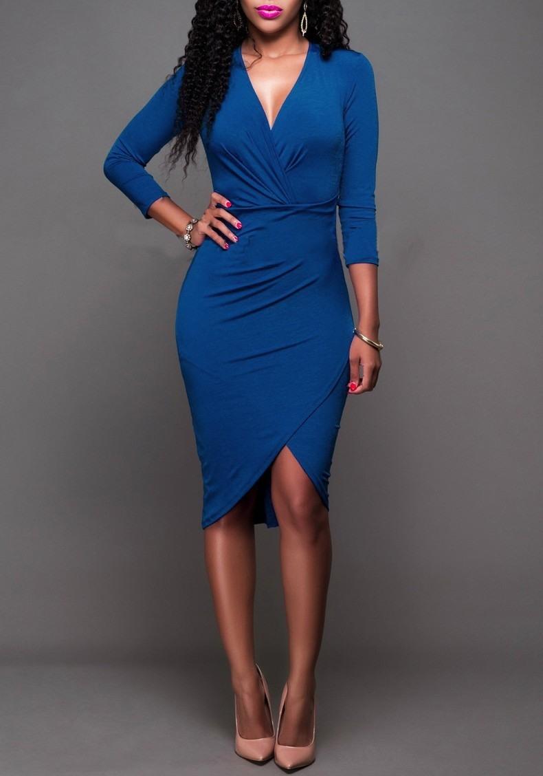 13 Genial Kleid Blau Langarm Vertrieb17 Schön Kleid Blau Langarm Boutique