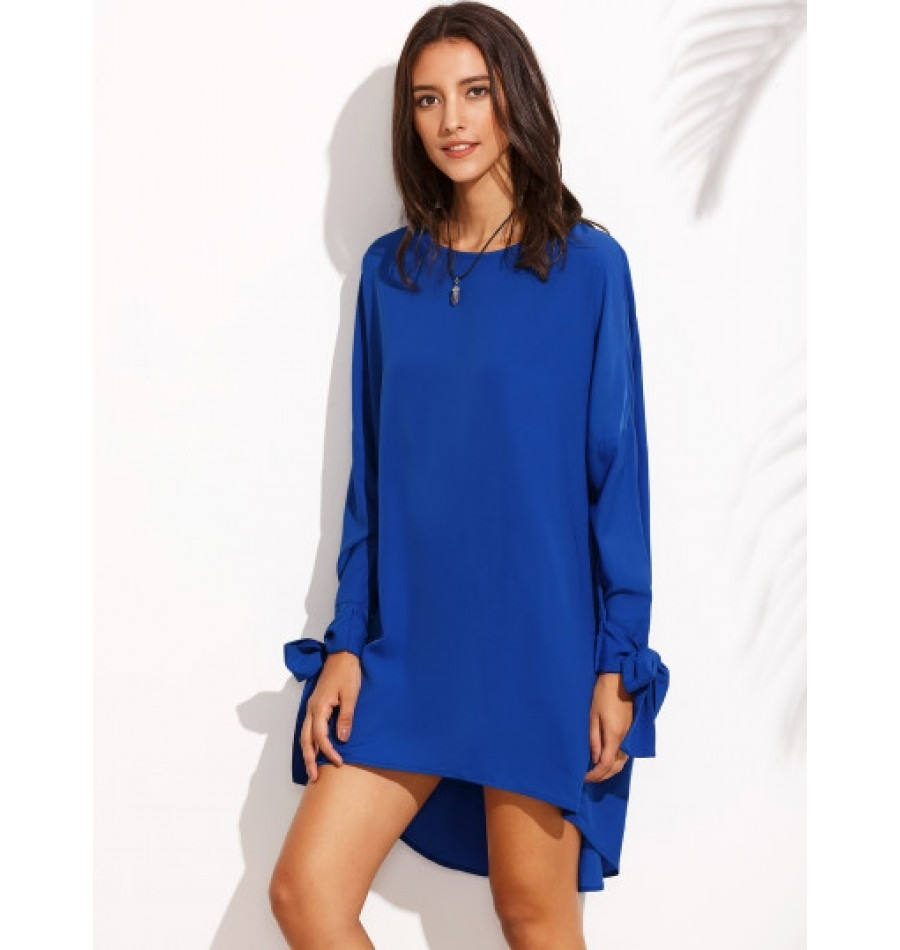 Formal Wunderbar Kleid Blau Langarm Stylish17 Erstaunlich Kleid Blau Langarm für 2019