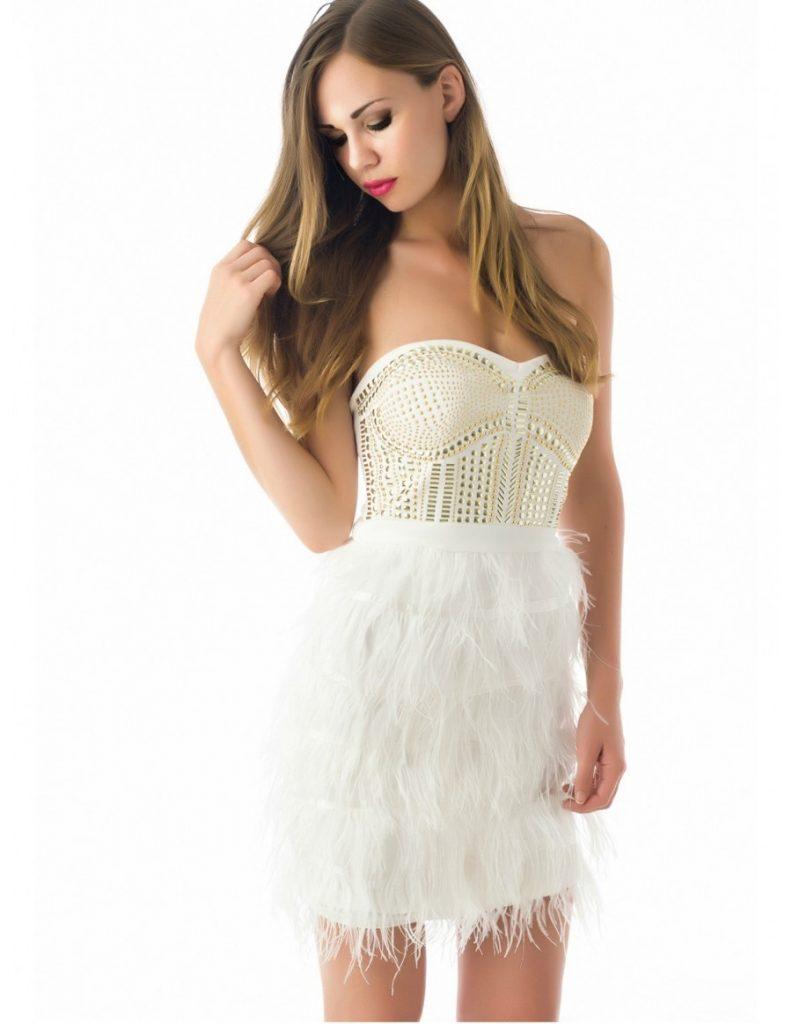 13 Wunderbar Kleid Mit Federn für 13 - Abendkleid