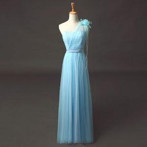 Abend Cool Langes Kleid Hellblau StylishDesigner Genial Langes Kleid Hellblau für 2019