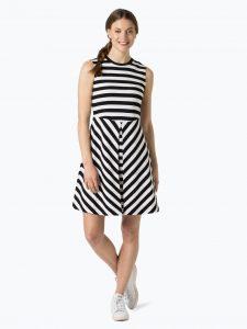 Abend Elegant Kleid Schwarz Weiß Gestreift Boutique15 Luxurius Kleid Schwarz Weiß Gestreift Design