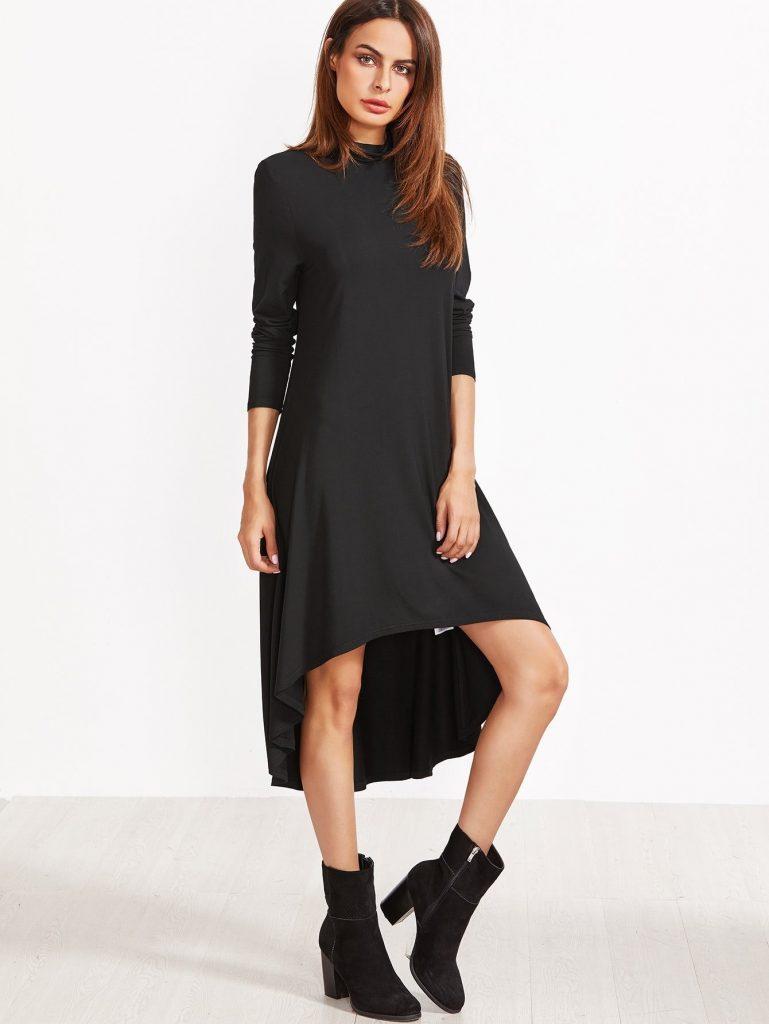 20 Cool Schwarzes Kleid Kurz Langarm Boutique - Abendkleid
