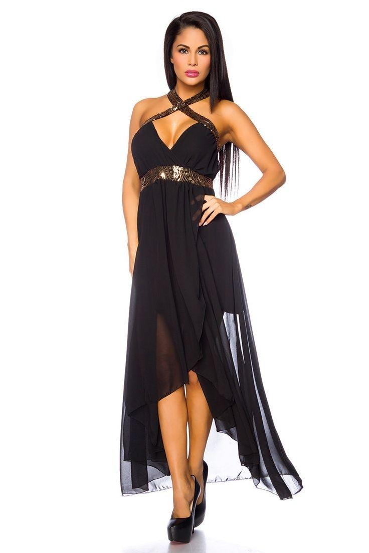 Abend Genial Schwarzes Langes Kleid Mit Glitzer SpezialgebietAbend Schön Schwarzes Langes Kleid Mit Glitzer Spezialgebiet