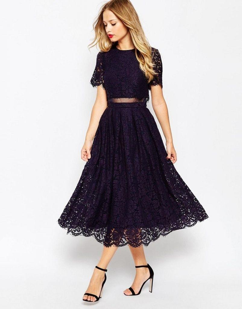10 Coolste Abendkleider Midi Galerie - Abendkleid