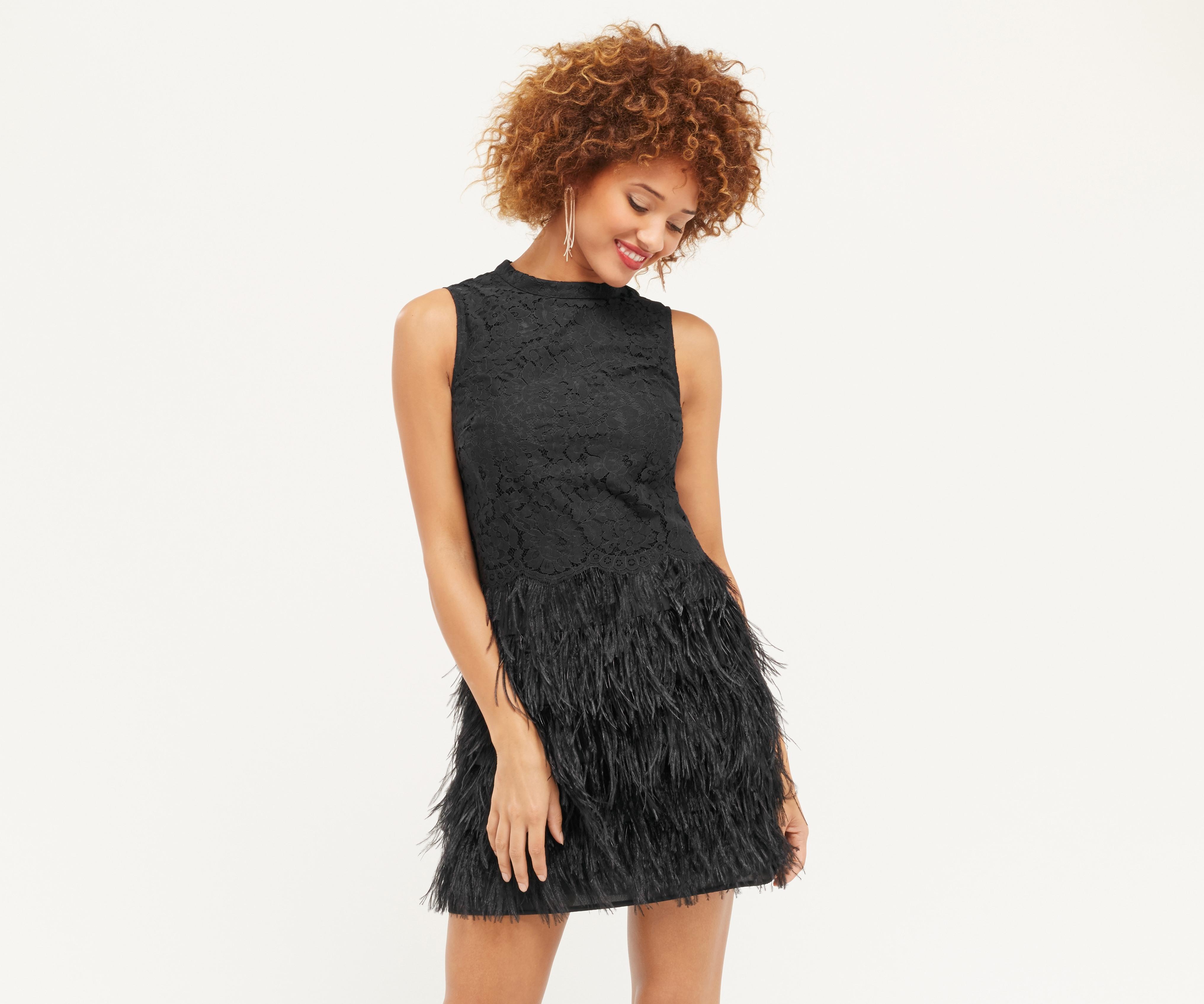Abend Schön Kleid Mit Federn Spezialgebiet10 Einfach Kleid Mit Federn Spezialgebiet