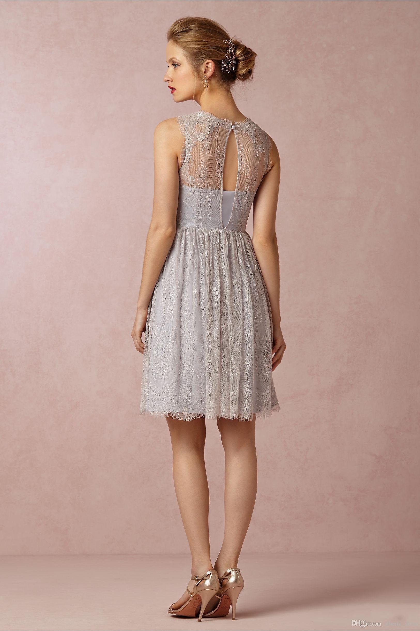 Designer Einfach Kleid Grau Spitze für 201913 Luxurius Kleid Grau Spitze Stylish
