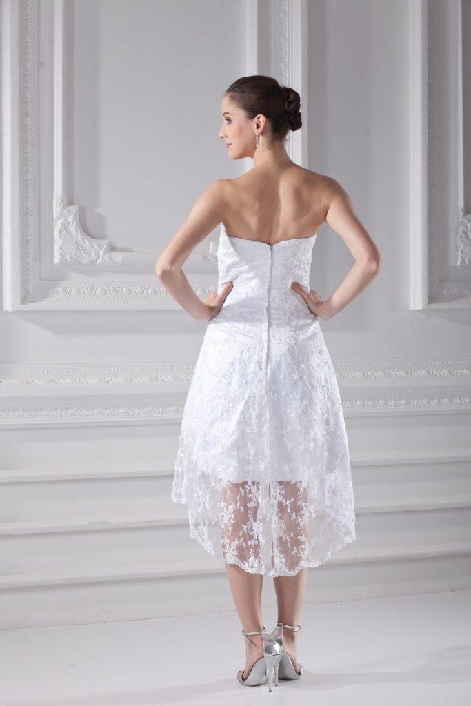 zur Freigabe auswählen neueste großes Sortiment 20 Einzigartig Kleid Kurz Weiß Spitze Ärmel - Abendkleid