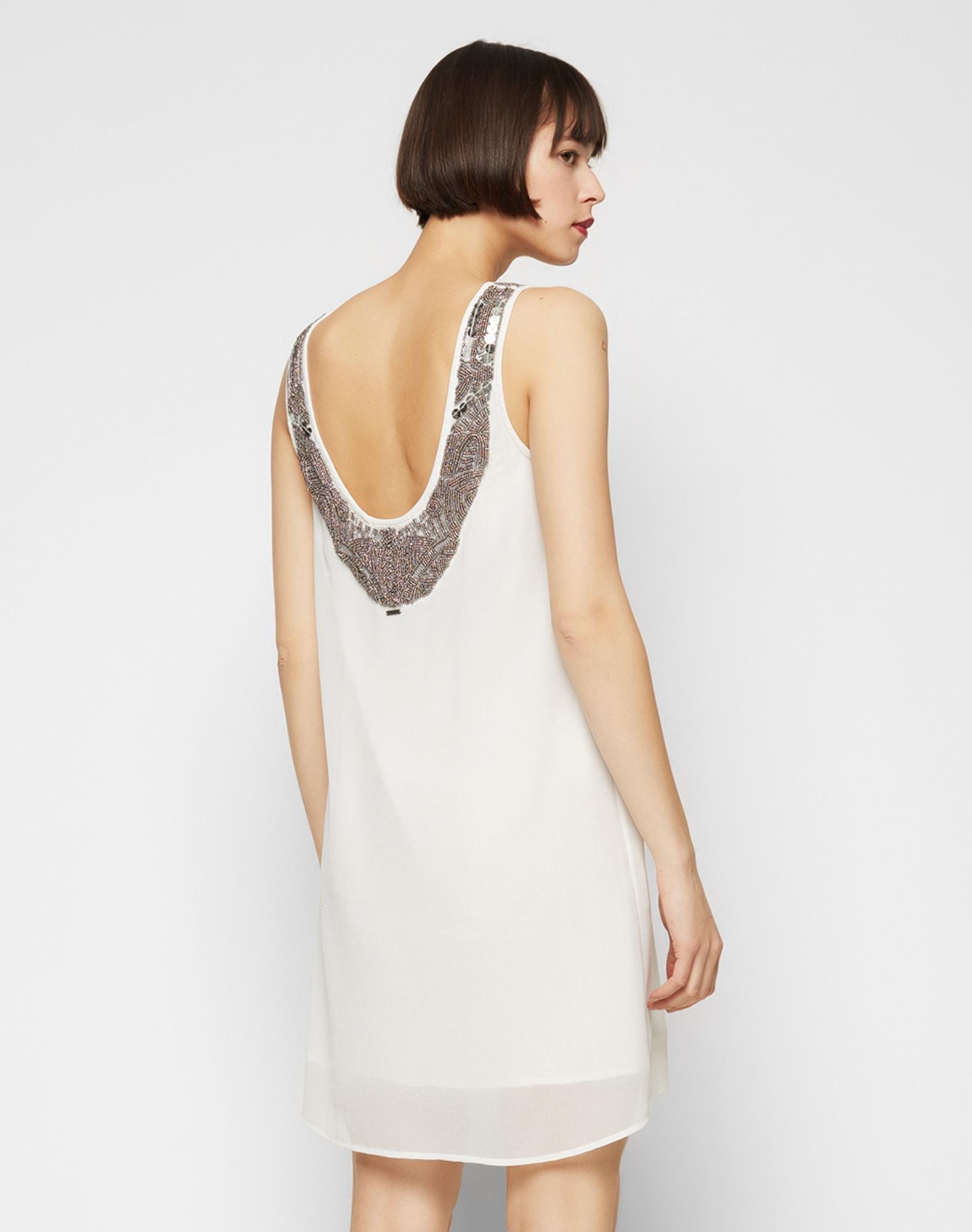 Designer Elegant Kleid Weiß Glitzer DesignDesigner Cool Kleid Weiß Glitzer für 2019
