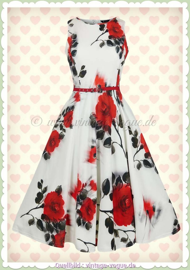 16 Fantastisch Weißes Kleid Mit Roten Blumen Boutique - Abendkleid