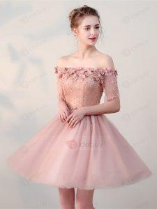 Formal Leicht Kleid Kurz Rosa Ärmel13 Elegant Kleid Kurz Rosa für 2019