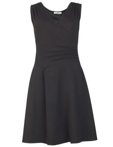 Formal Elegant Rot Schwarzes Kleid StylishAbend Schön Rot Schwarzes Kleid Ärmel