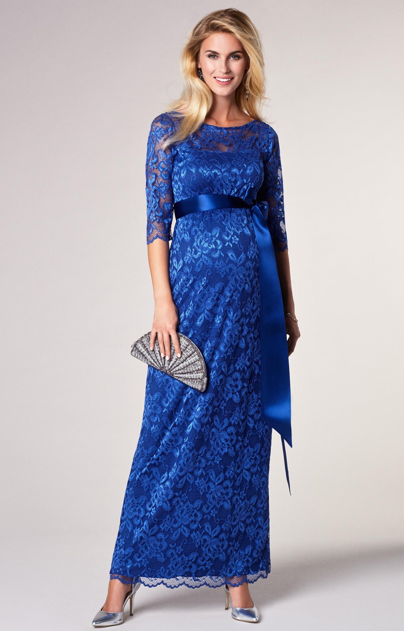Abend Cool Spitzenkleid Lang DesignDesigner Luxus Spitzenkleid Lang Boutique