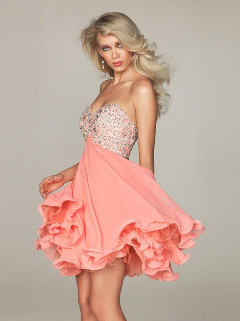 20 Luxurius Kleid Kurz Rosa Stylish - Abendkleid
