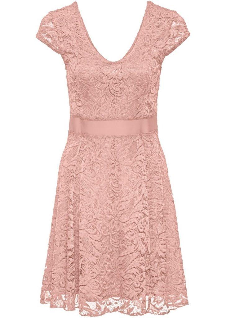 20 Luxurius Kleid Rosa Spitze Kurz Vertrieb - Abendkleid
