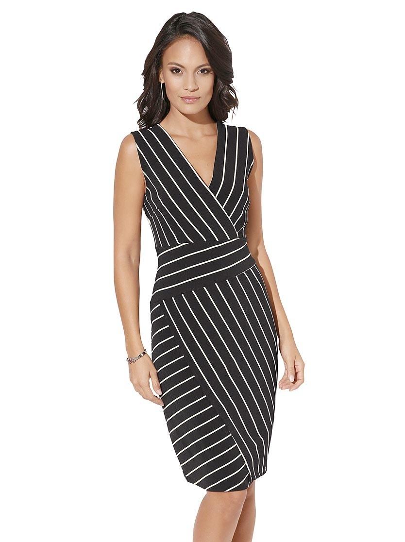 Formal Cool Kleid Schwarz Weiß Gestreift für 2019 Schön Kleid Schwarz Weiß Gestreift Stylish