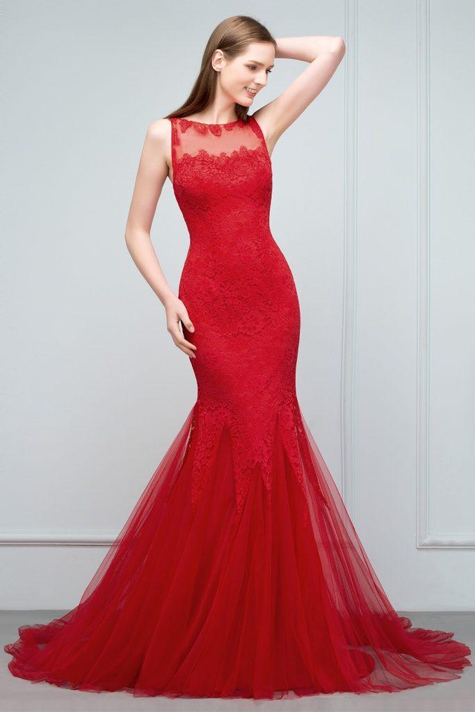 20 Perfekt Abendkleid Rot Lang Günstig Spezialgebiet ...