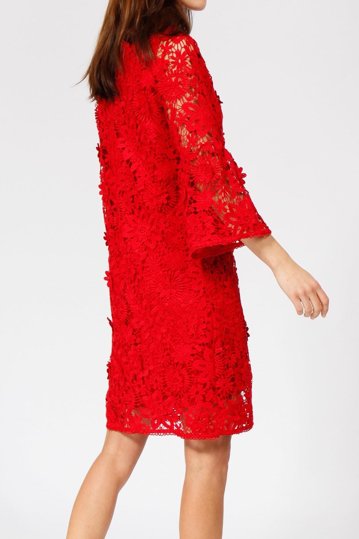 Fantastisch Kleid Rot Spitze Ärmel17 Genial Kleid Rot Spitze Galerie