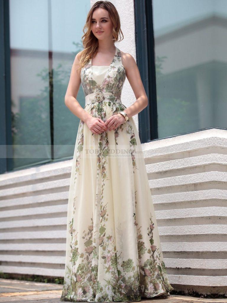 16 Schön Abendkleid Lang Blumen Design - Abendkleid