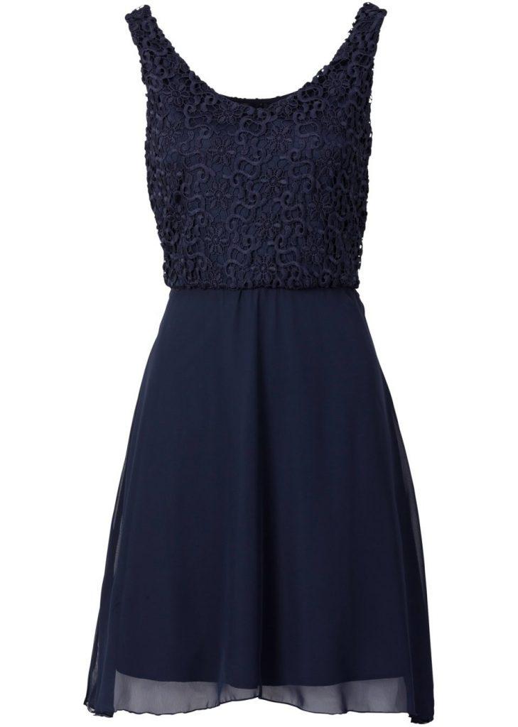 20 Schon Blaues Kleid Mit Spitze Fur 2019 Abendkleid