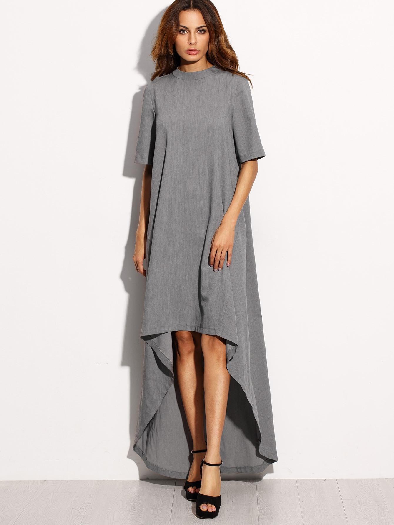 Großartig Kleid Grau Lang Stylish13 Schön Kleid Grau Lang Stylish