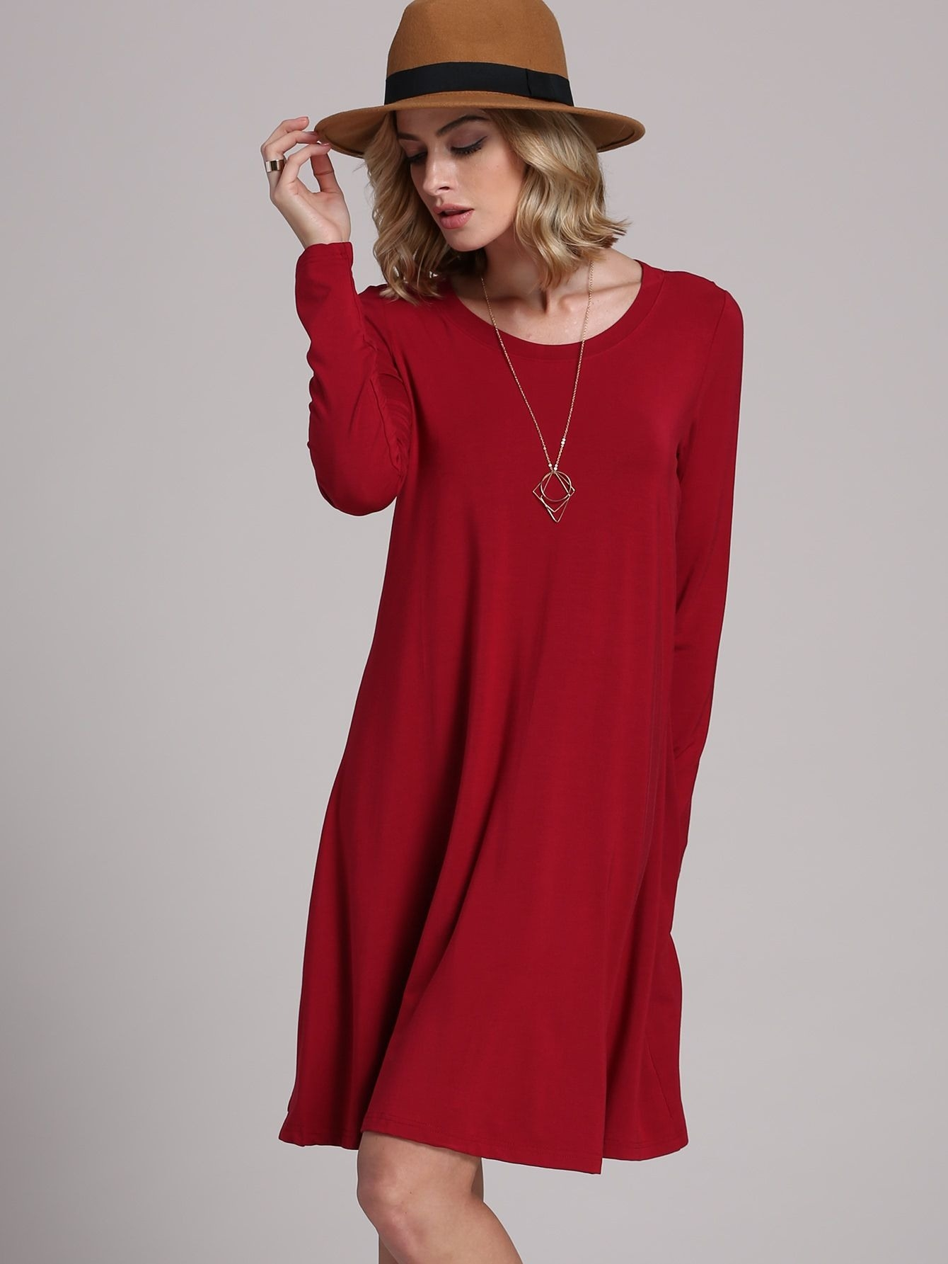 Abend Elegant Rotes Kleid Langarm Bester PreisDesigner Genial Rotes Kleid Langarm für 2019