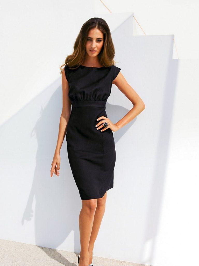 Abend Ausgezeichnet Kleid Knielang Schwarz Galerie - Abendkleid