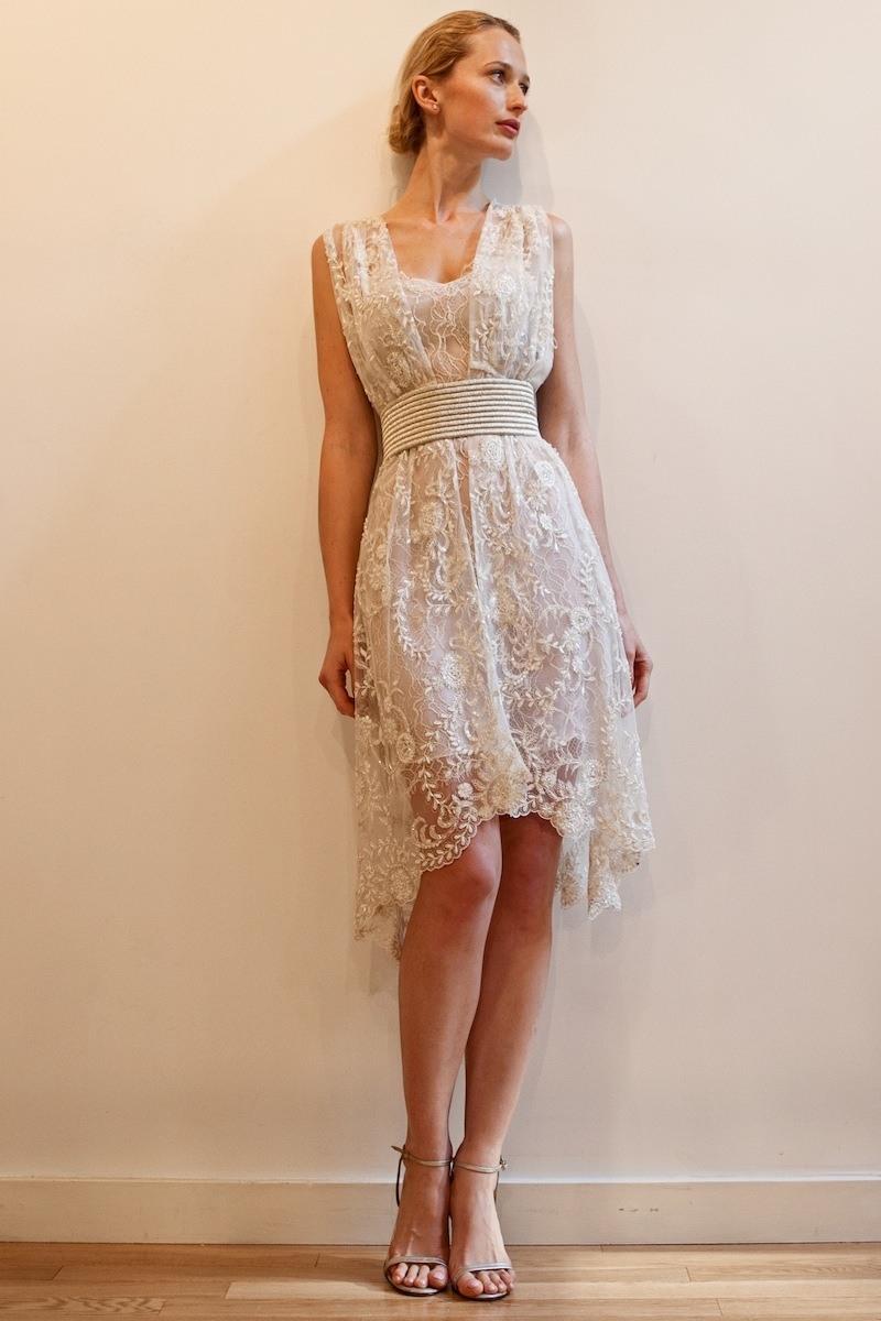 Abend Coolste Strandkleid Weiß Hochzeit Ärmel - Abendkleid