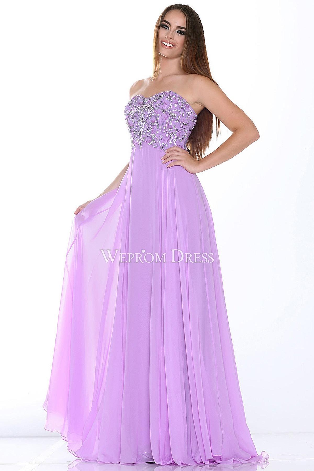 Abend Einfach Flieder Kleid Lang Boutique - Abendkleid