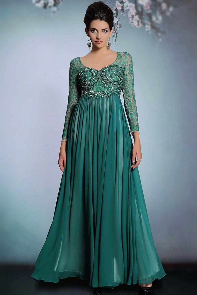 Abend Spektakulär Kleid Dunkelgrün Lang Bester Preis Einzigartig Kleid Dunkelgrün Lang für 2019