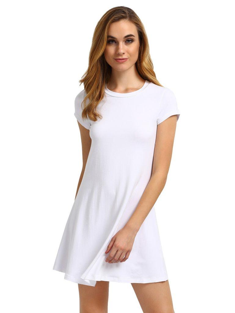 brand new 7b722 4bbb7 Abend Einfach Weißes Kleid Kurz Vertrieb - Abendkleid