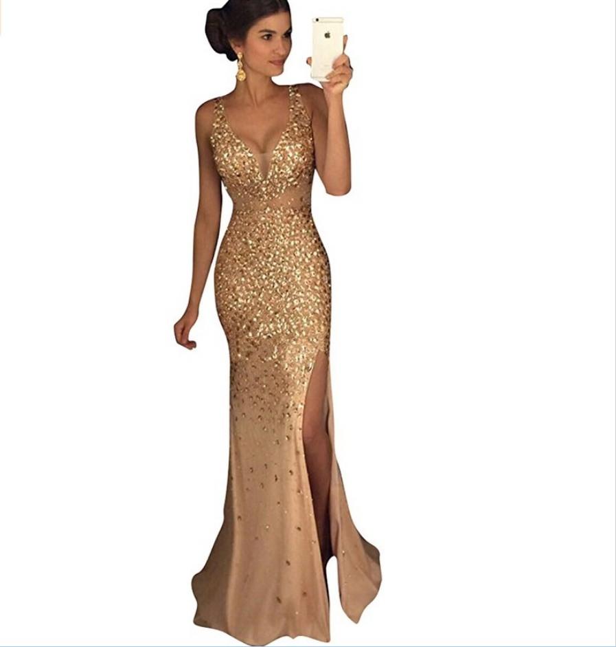 Abend Elegant Abendkleid Gold Galerie17 Coolste Abendkleid Gold für 2019