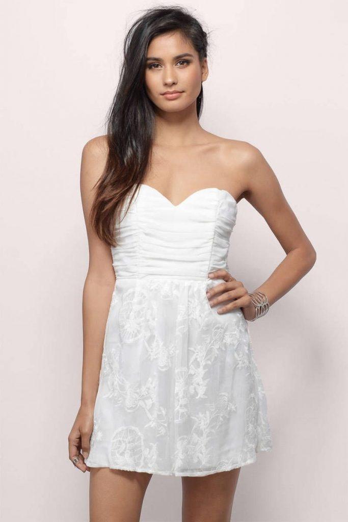 new arrival 474a9 bf0e2 Abend Einzigartig Weißes Kleid Kurz Vertrieb - Abendkleid