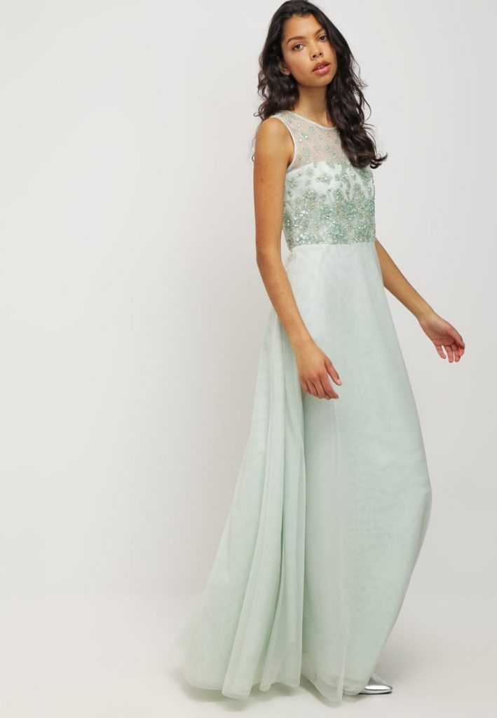 Abend Fantastisch Mint Kleid Lang Armel Abendkleid