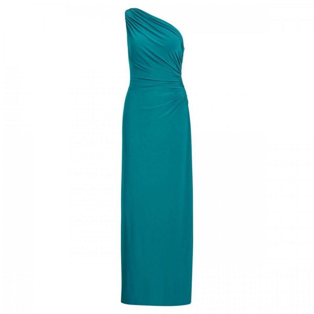 Abend Genial Kleid Blau Grün Boutique Abendkleid