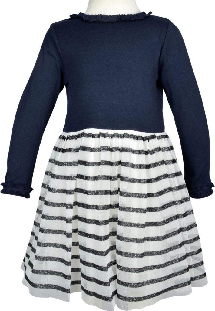 Abend Großartig Kleid Blau Langarm Bester Preis - Abendkleid