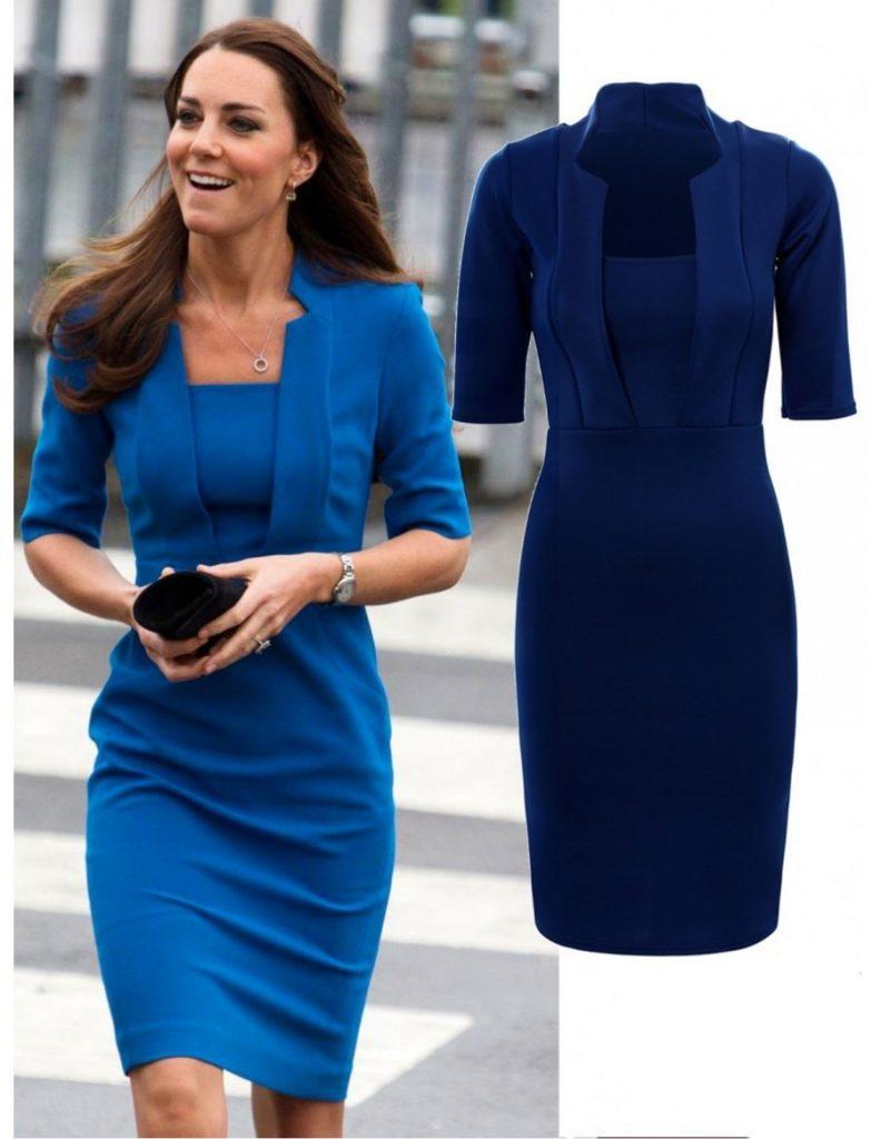abend leicht blaues kleid Ärmel - abendkleid