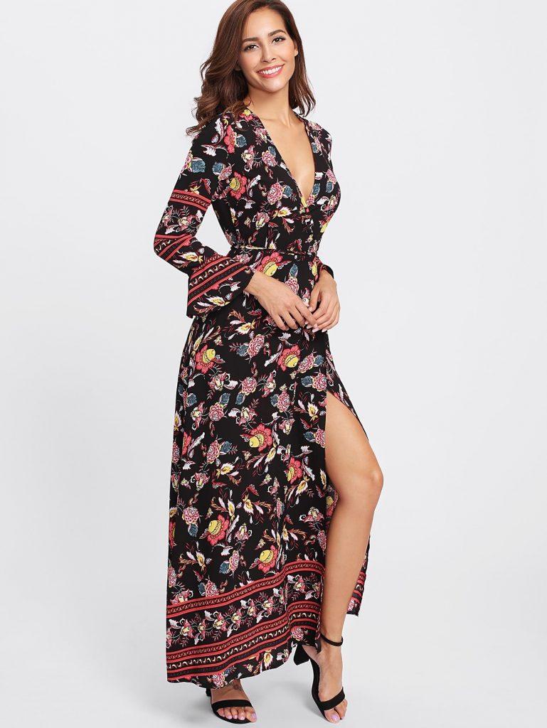 abend leicht langarm kleider maxi boutique - abendkleid