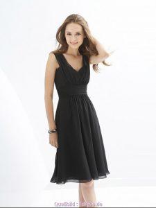 Designer Fantastisch Schwarzes Kleid Knielang Ärmel10 Genial Schwarzes Kleid Knielang Bester Preis