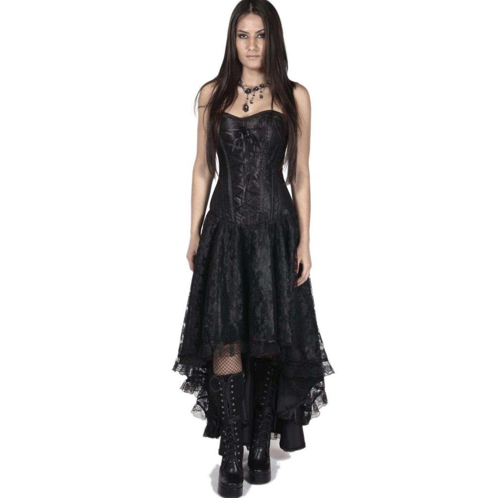 Abend Luxus Schwarzes Kleid Mit Spitze Spezialgebiet ...