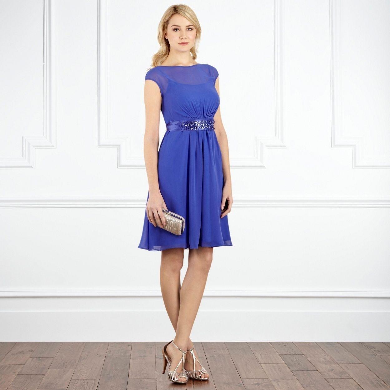 Abend Schön Blaues Kleid A Linie für 10 - Abendkleid