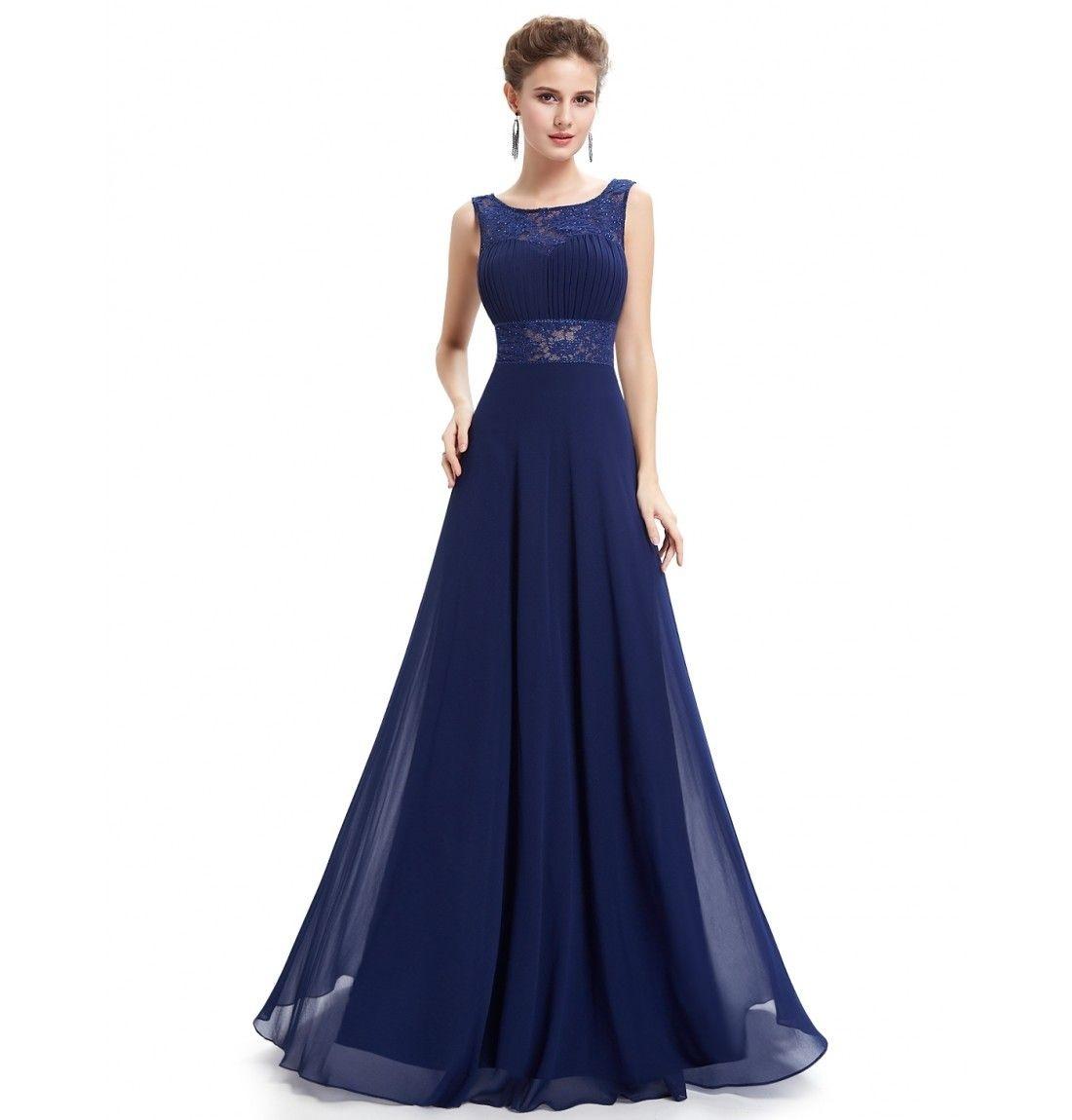 Formal Perfekt Dunkelblaues Abendkleid Lang Design20 Ausgezeichnet Dunkelblaues Abendkleid Lang Galerie
