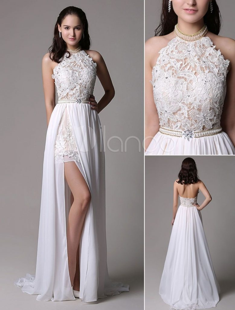 schicke weiße kleider