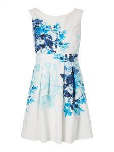 Abend Großartig Kleid Weiß Mit Blumen Bester PreisDesigner Genial Kleid Weiß Mit Blumen Design