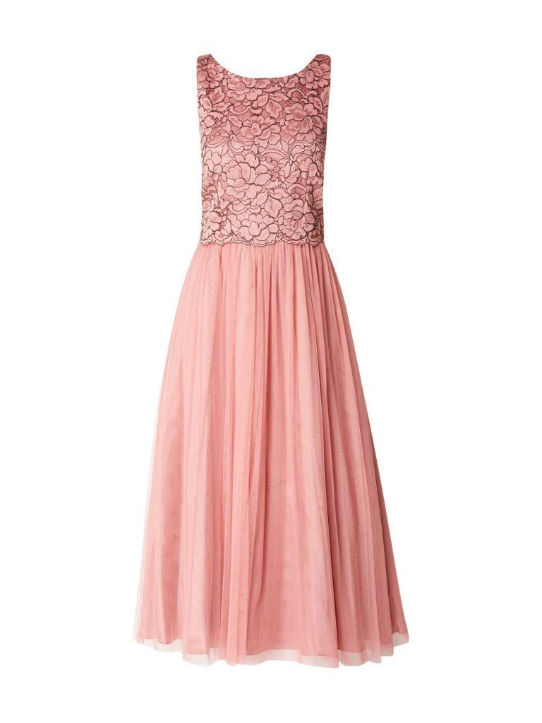 Abend Schön Rosa Kleid Lang Spitze Design - Abendkleid
