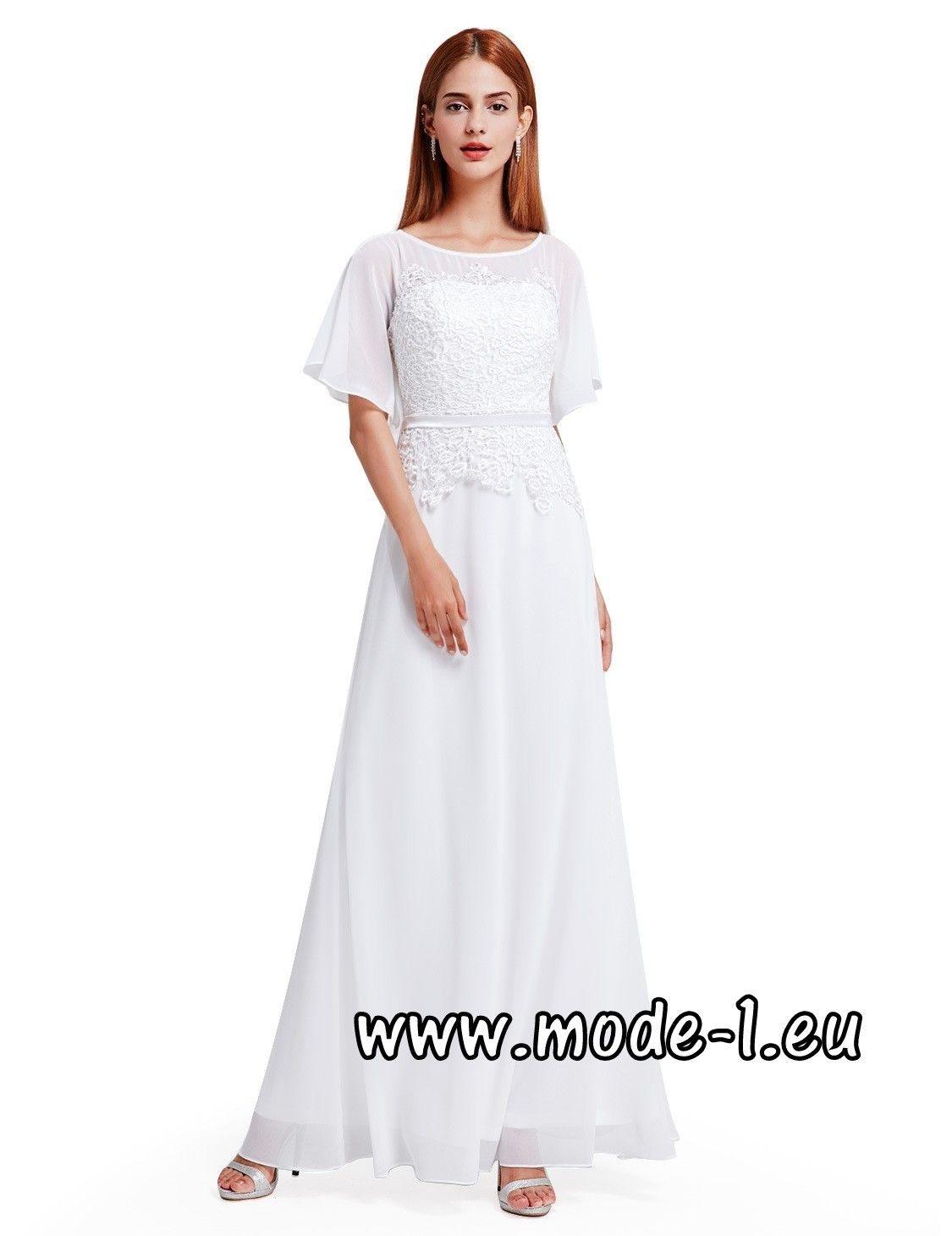 Abend Einfach Weißes Abendkleid Günstig ÄrmelAbend Genial Weißes Abendkleid Günstig Stylish
