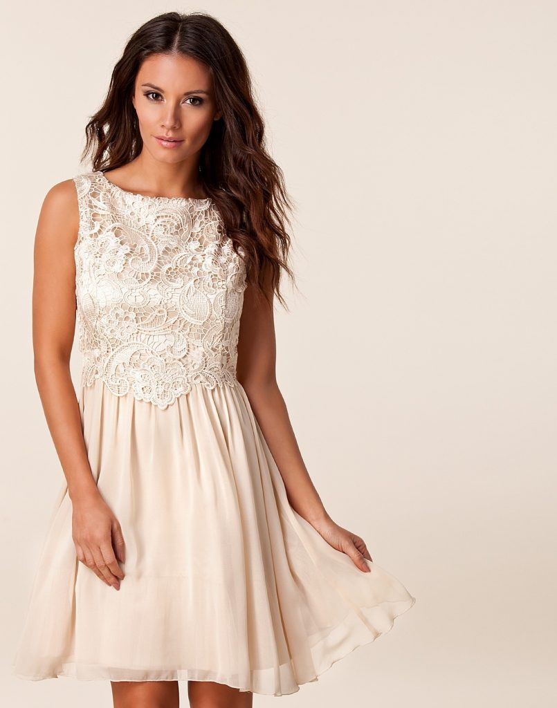 Abend Spektakulär Kleid Kurz Weiß Spitze Spezialgebiet