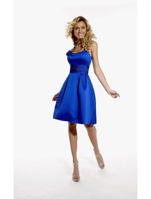 Genial Blaues Kleid A Linie VertriebFormal Genial Blaues Kleid A Linie Design