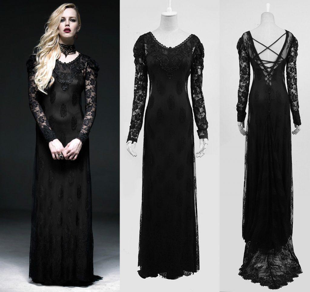 Ausgezeichnet Abendkleid Schwarz Lang Spitze Ärmel - Abendkleid