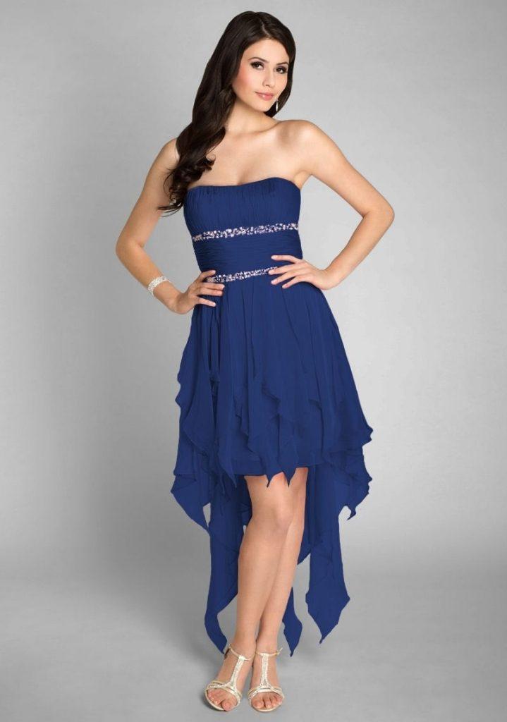 sports shoes 56392 04dd8 Ausgezeichnet Blaues Kleid Kurz Ärmel - Abendkleid