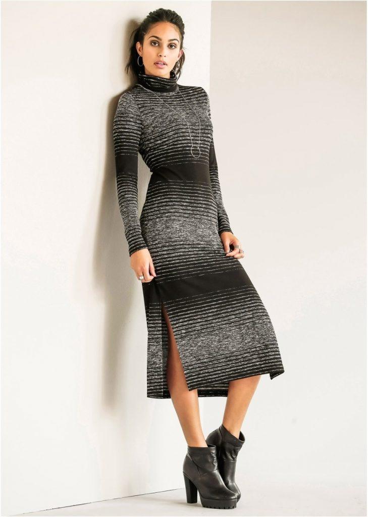 finest selection 54c94 8e3ab Cool Langes Strickkleid Spezialgebiet - Abendkleid